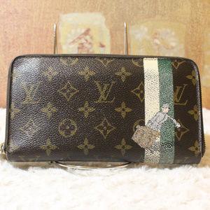 AUTH Louis Vuitton Groom Zippy Organizer Wallet